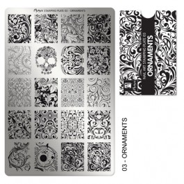 Moyra Шаблон за печат №03 Ornaments