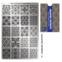 Moyra Шаблон за печат №11 Damask Drapery