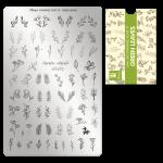 Moyra Шаблон за печат № 79 Green leaves