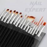 Комплект четки  за  Nail Art 16бр